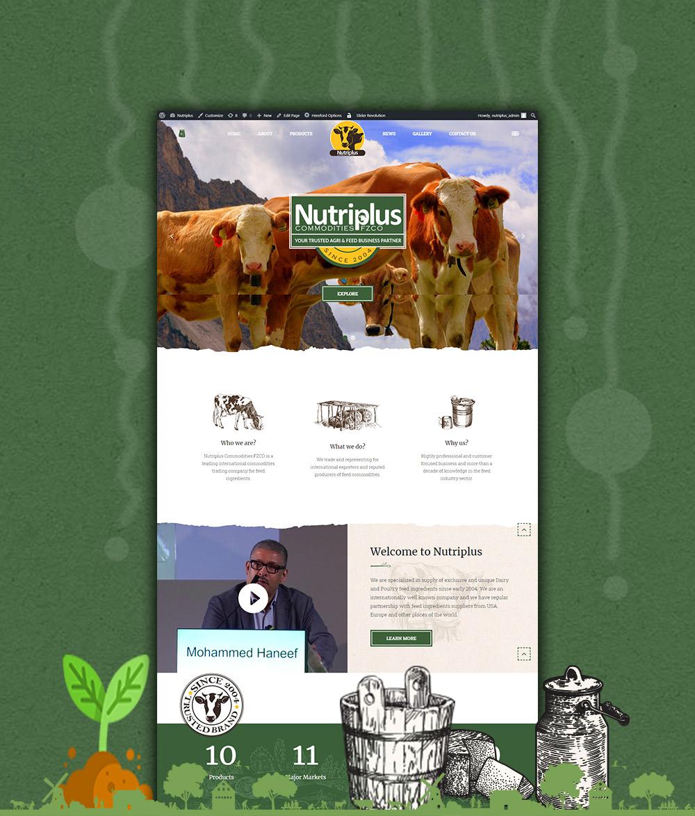 Nutriplus Web design