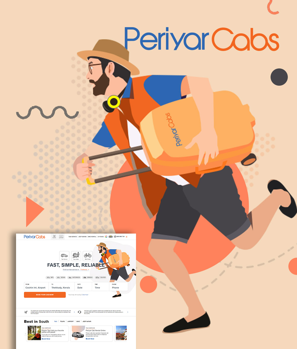 Web Design for Periyar Cabs